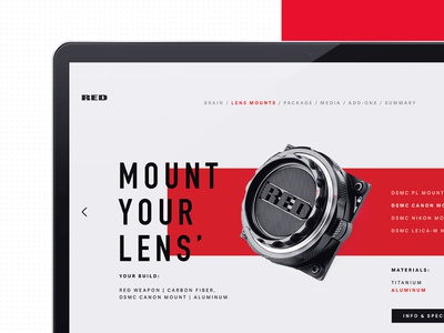RED Reveal: 02 brand design florida harbrco layout red tampa typography ui web design ux gif