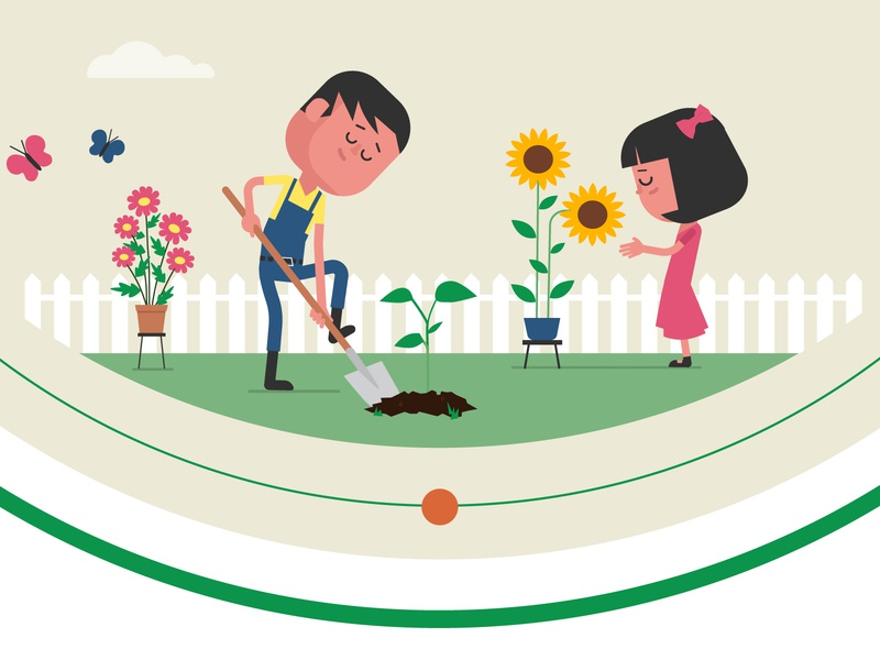 Character design kids school science carpenting cooking class yoga garden animation illustration graphic character vector art flat flat design design vector character character design