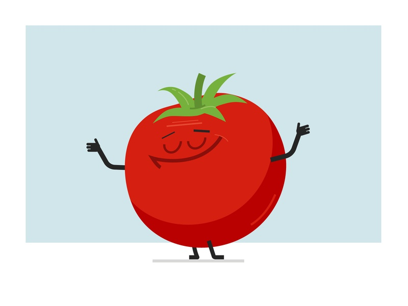 Tomato character cartoon illustration graphic character vector art flat flat design design vector character character design