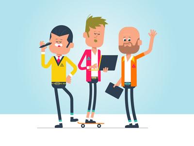 3 dudes standing