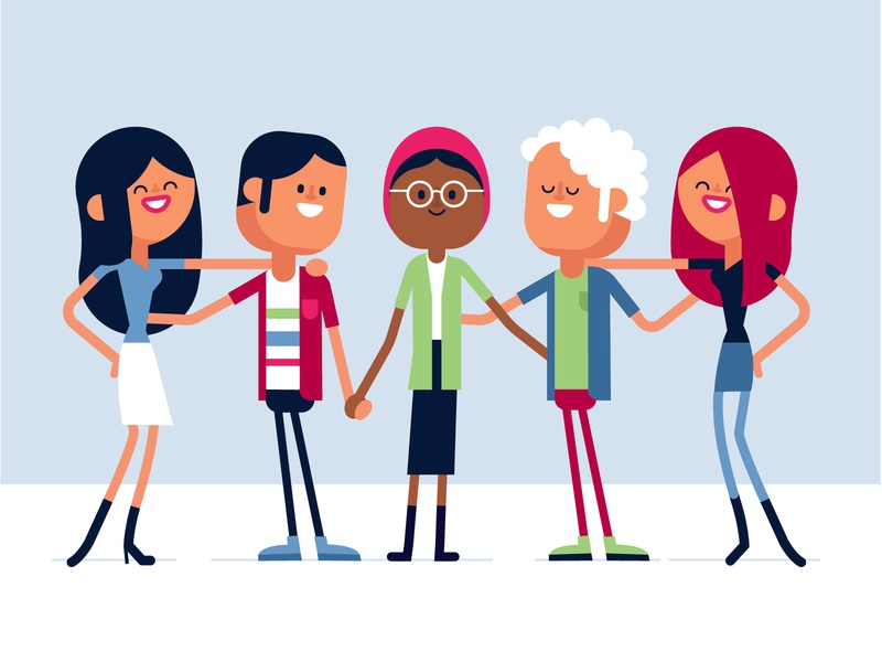 Friends hipster girl boy cartoon animation illustration graphic character vector art flat flat design design vector character character design friendship