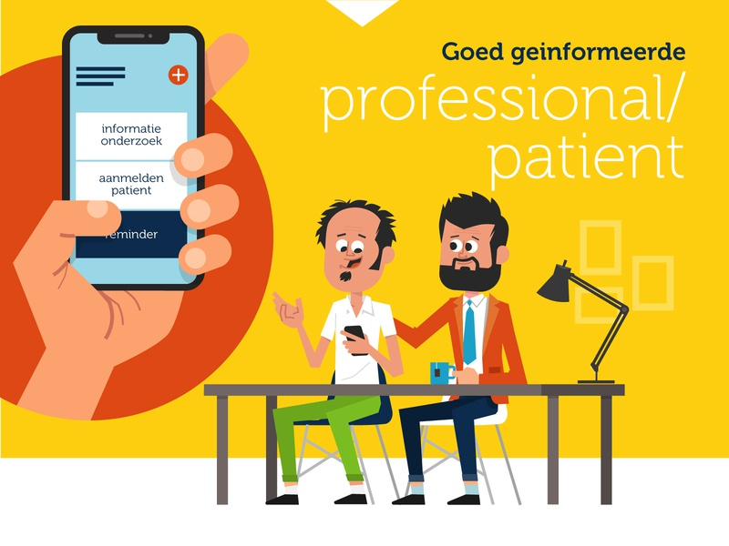 Professional / Patient hospital doctor patient animation illustration graphic character vector art flat flat design design vector character character design