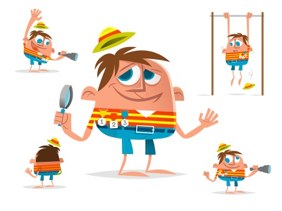 funny boyscout character boyscout animation flat illustration graphic character vector art flat design design vector character character design