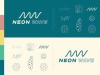 Neon Wave Logo Assets
