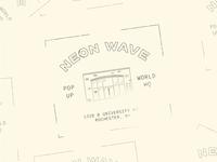 Neon Wave Stamp Design