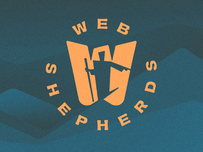 WEB SHEPHERDS concept web design icon lettering typography illustration branding logo