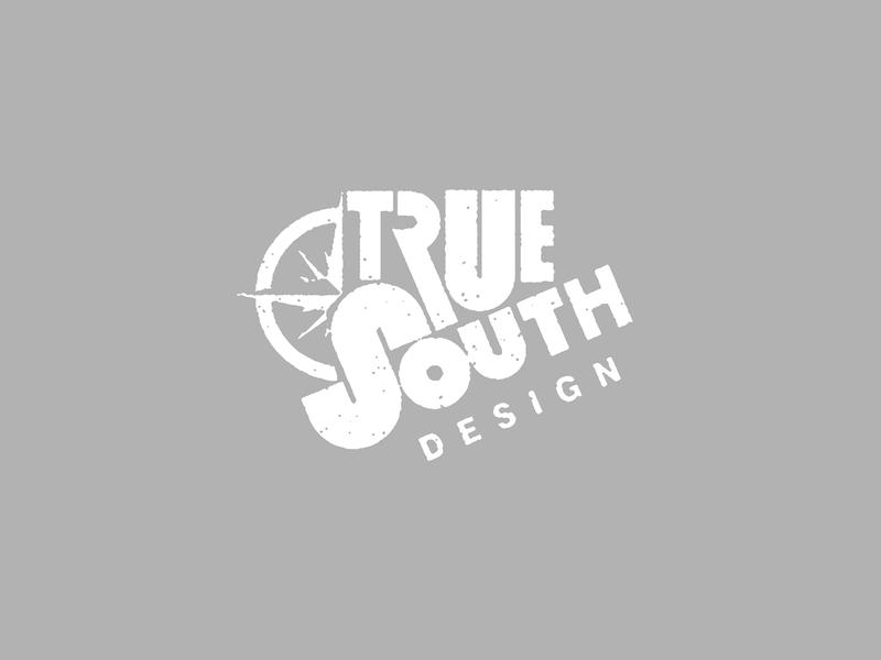 True south south true graphic design concept vector illustration design branding logo typography lettering