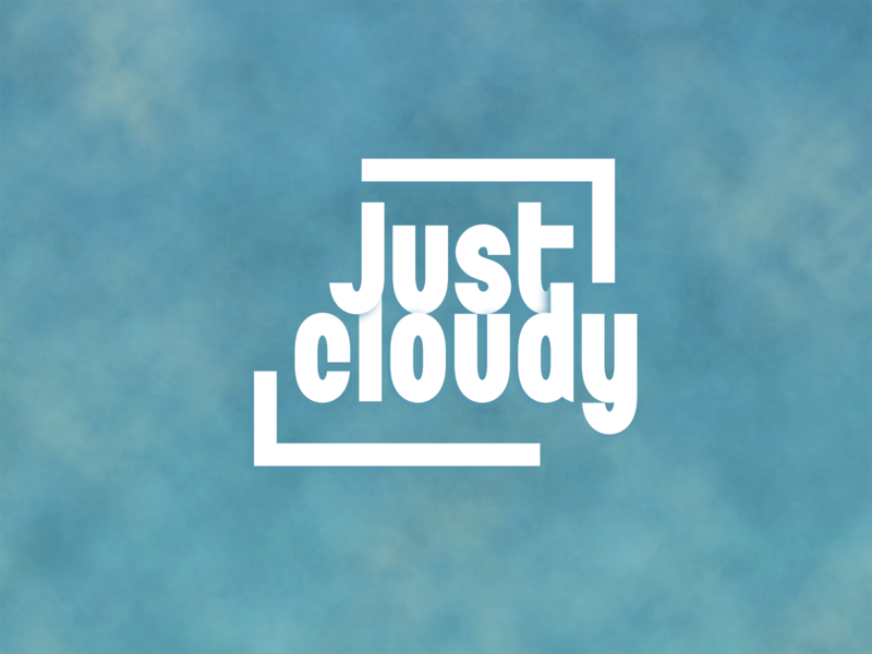Just cloudy cloud graphic design concept vector illustration design branding typography lettering