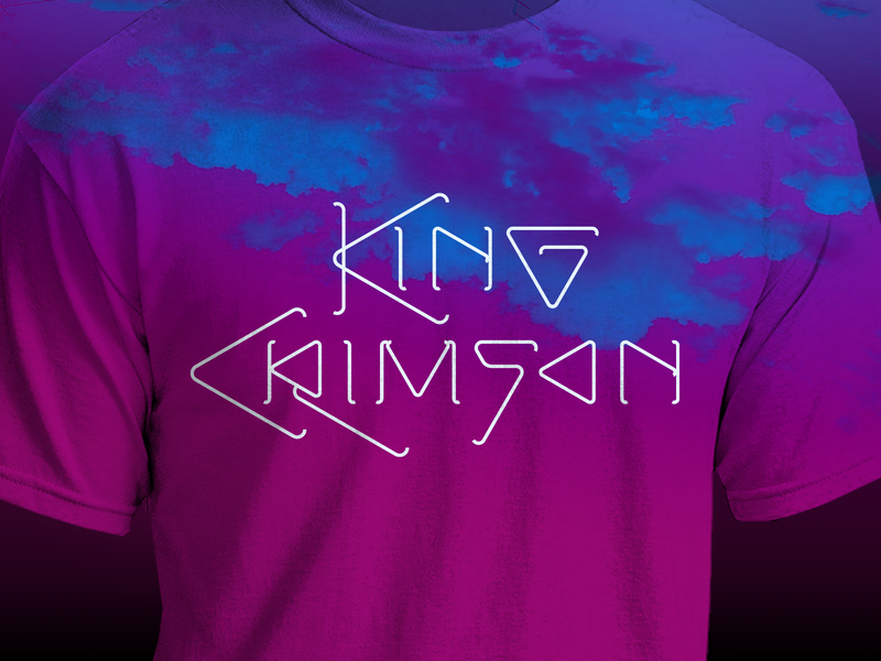 King Crimson king crimson tshirt t shirt design graphic design illustration logo vector concept design branding lettering typography