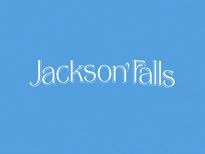 Jackson  Falls falls jackson graphic design illustration logo vector concept design lettering branding typography