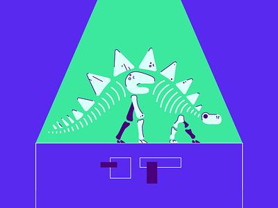 Dine-sawwww dead spotlight tag museum fossil dinosaur