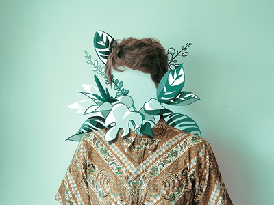 Expat article invisible texture bush plants identity faceless face shirt expat illustration article