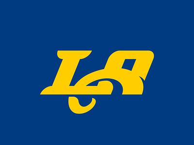 Rams Concept Logo los angeles la identity design vector illustrator football branding logo sports nfl rams