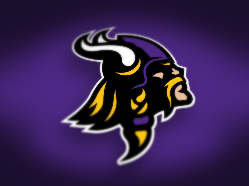 Vikings In Color cleveland state minnesota nfl vector design illustrator branding logo sports logo sports vikings viking
