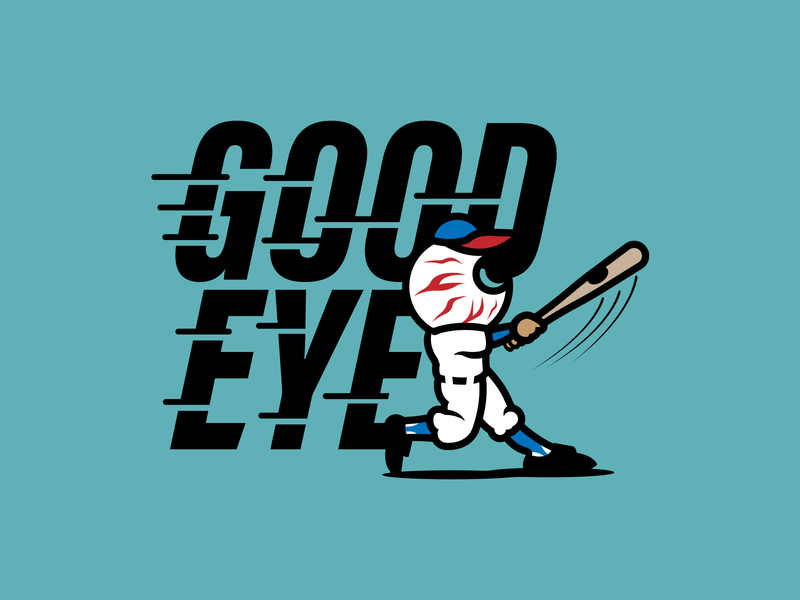 Good Eye Baseball mlb logo design identity illustration illustrator branding vector sports logo sports apparel baseball