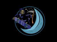 Reaper Shreds the Moon vector illustrator branding apparel design apparel