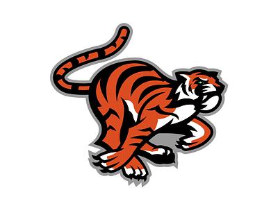 Tiger 2 football cincinnati vector identity illustration illustrator branding logo sports design sports logo sports tiger