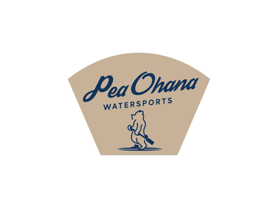 Pea Ohana Watersports Branding brand design brand identity brand design vector illustrator logo branding