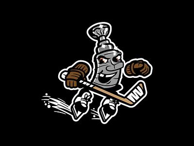 Stanley Cup sport sports logo design sports logo design vector identity branding logo illustrator mascot sports mascot stanley cup illustration character sports nhl hockey