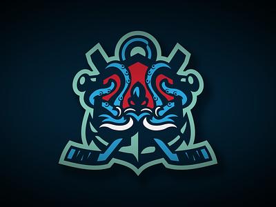 Seattle Kraken Illustration sports logo hockey nhl kraken illustration vector identity illustrator branding logo sports seattle