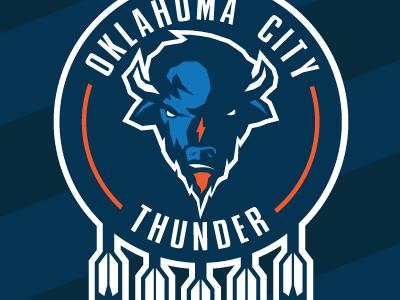 Oklahoma City Thunder Concept concept logo nba basketball branding sports
