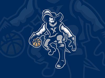 Xavier Basketball Logo Concept musketeers basketball design concept branding logo college basketball college cincinnati ncaa sports xavier