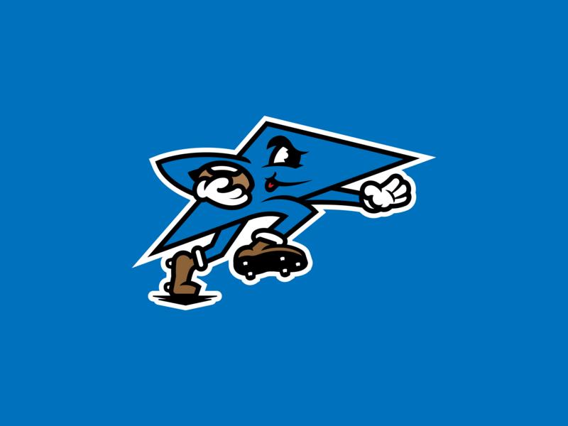 Dayton Triangles Logo identity nfl football ohio dayton vector illustration branding logo sports