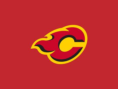 Calgary Flames Logo Concept vector logo branding hockey calgary flames calgary flames sports nhl