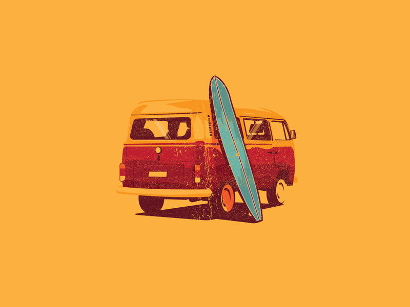 VW Illustration car illustration cars van illustrator illustration vw bus volkswagen vw
