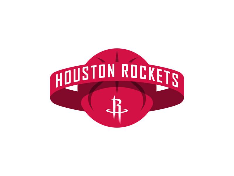 Houston Rockets Concept Logo rocket houston sports vector design branding illustrator basketball nba rockets