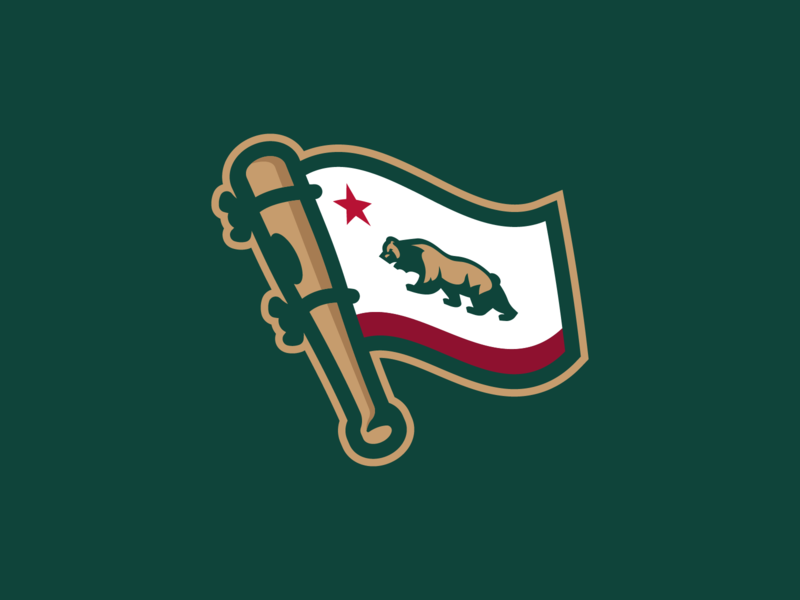 California Baseball for Hat Club hats hatclub cali application california apparel design vector branding illustrator baseball logo sports