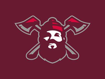 Lumberjack vector illustration illustrator identity logo design branding sports logo sports logo