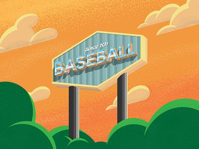 Baseball Illustration los angeles dodger stadium dodgers illustrator illustrations sports art sports baseball illustration