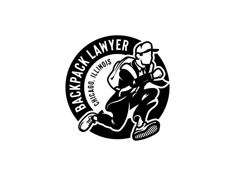 Backpack Lawyer Branding vector brand identity branding agency logodesign lawyer law chicago cincinnati design logo illustration illustrator branding design branding