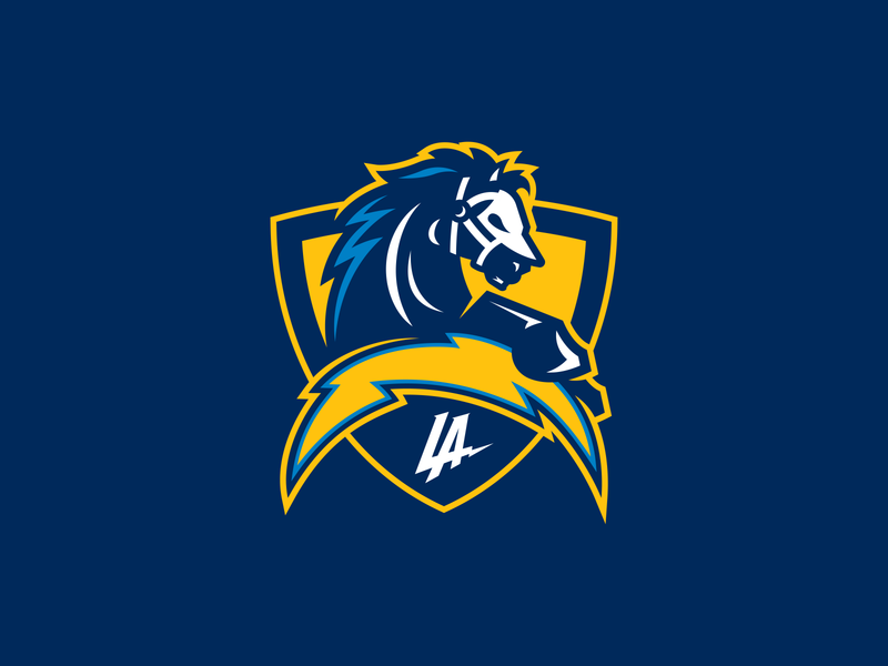 LA Chargers Concept Logo los angeles lac vector identity illustrator design logo branding sports football chargers