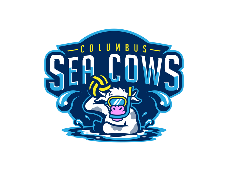 Columbus Sea Cows Water Polo sports identity sports branding sports logo design logo design brand design branding ohio columbus water polo sports sports logo