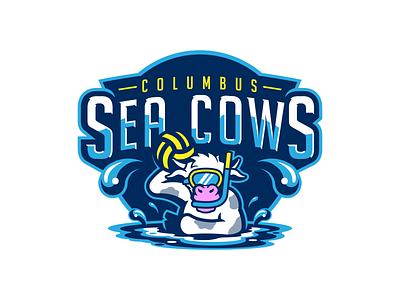 Columbus Sea Cows Water Polo sports identity sports branding sports logo design logo design brand design branding ohio columbus water polo sports sports logo