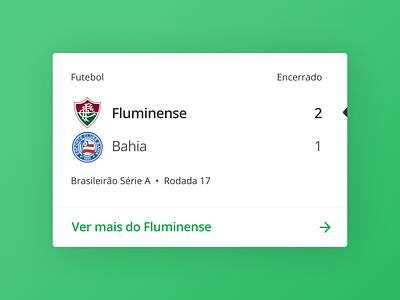 Scoreboard Card design product ui scorecard sports soccer brasil system live score scoreboard uxdesign typography minimal ux