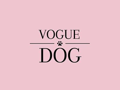 VOGUE DOG logo icon illustration vector logo flat graphic design design branding brand identity