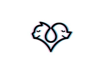 Heart logo heart logo vector illustration icon logo graphic design design branding brand identity