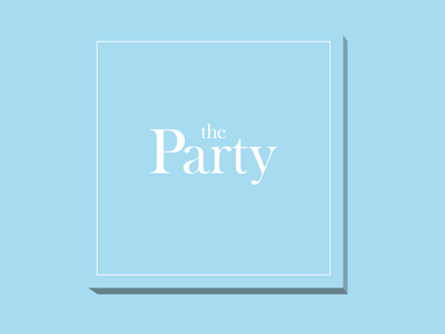 The Party logo blue logo party logo vector logo graphic design design branding brand identity