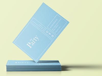 The Party B-card vector logo graphic design design branding brand identity