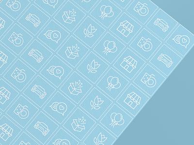 The Party icon set illustration vector icon graphic design design branding brand identity