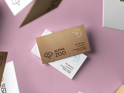 Alpha ZOO b-cards logo graphic design design branding brand identity