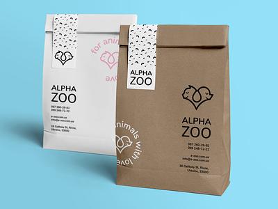 Alpha ZOO package icon logo graphic design design branding brand identity