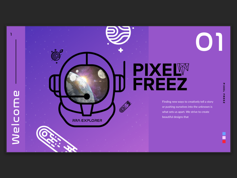 Pixel Freez present space purple