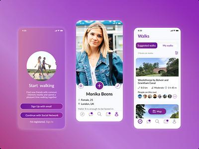 New App Screen interface design app