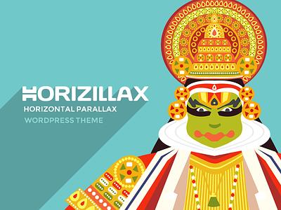 Horizillax Horizontal Parallax Wordpress Theme wordpress theme horizontal parallax parallax kerala illustration art