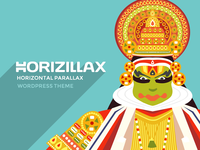 Horizillax Horizontal Parallax Wordpress Theme
