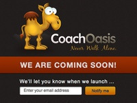 CoachOasis Coming Soon page